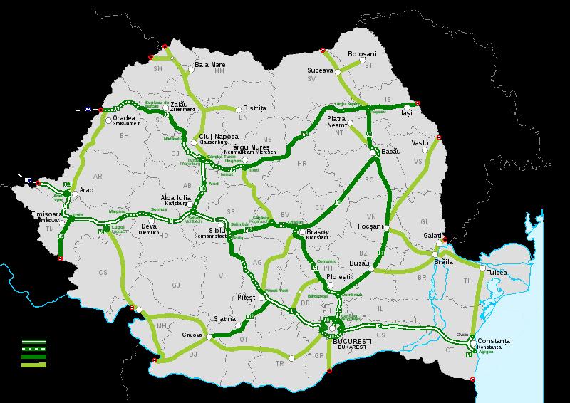 románia autópályák